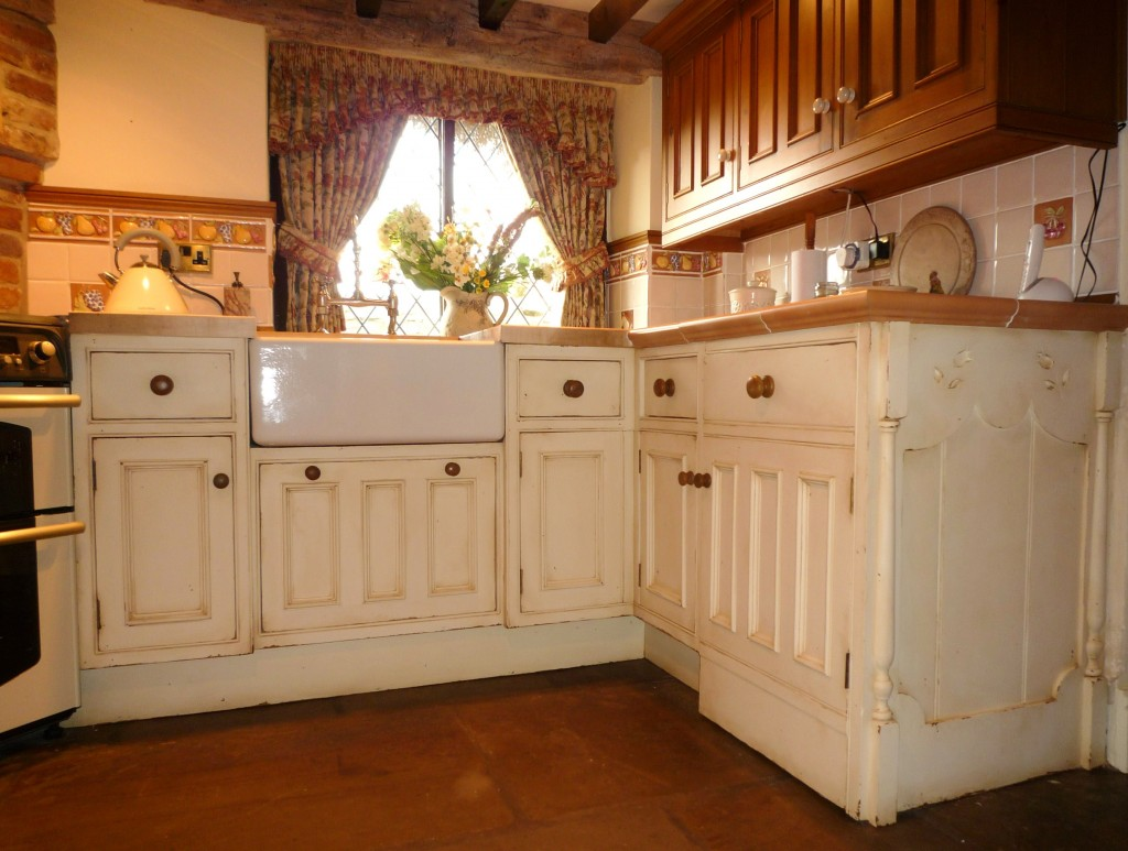 Distressed and antiqued kitchen