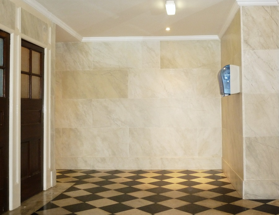 Faux Marble Paint Effect Walls Zoom in